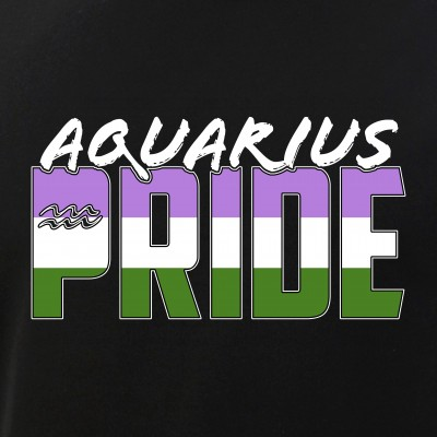 Aquarius Genderqueer Pride Flag Zodiac Sign