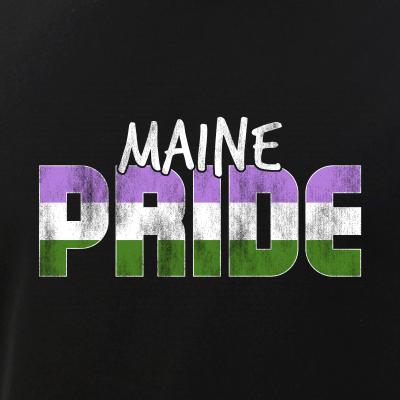 Maine Pride Genderqueer Flag