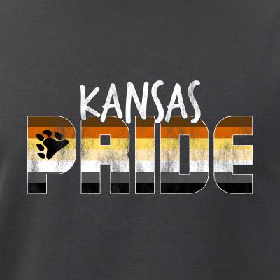 Kansas Pride Gay Bear Flag