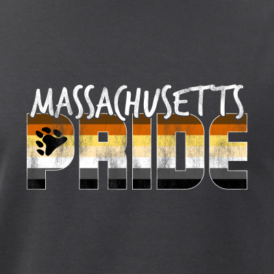Massachusetts Pride Gay Bear Flag