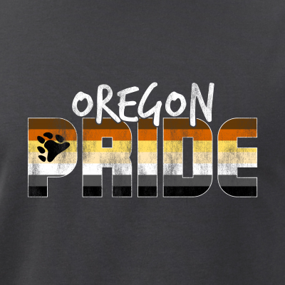 Oregon Pride Gay Bear Flag