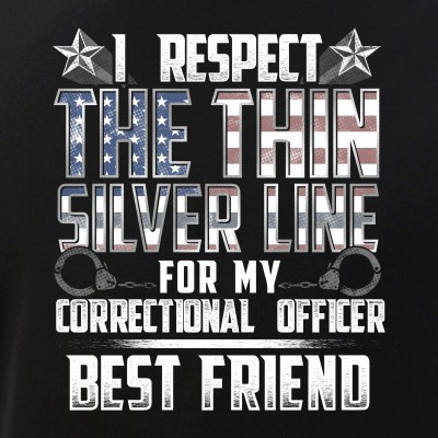 Best Friend Thin Silver Line Correctional Officer