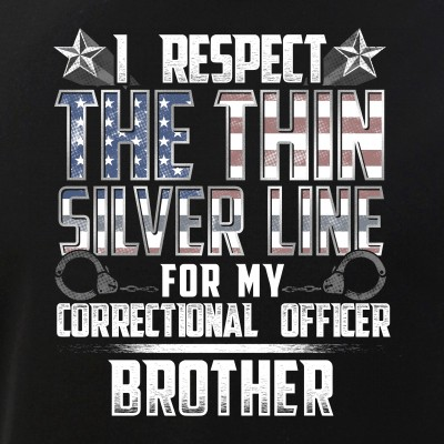 Brother Thin Silver Line Correctional Officer