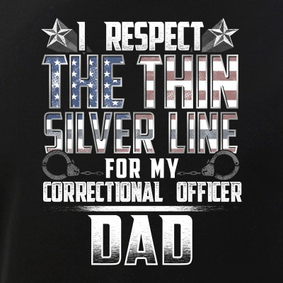 Dad Thin Silver Line Correctional Officer