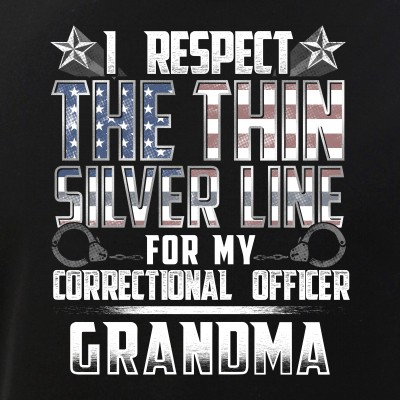Grandma Thin Silver Line Correctional Officer