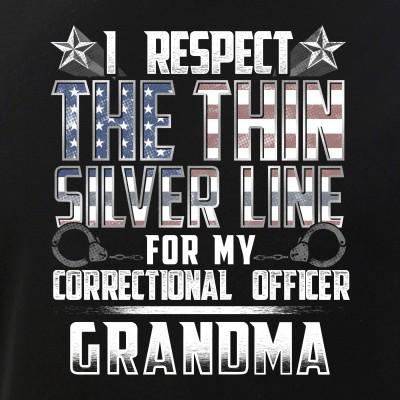 Grandma Thin Silver Line Correctional Officer