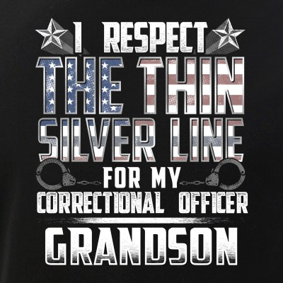 Grandson Thin Silver Line Correctional Officer