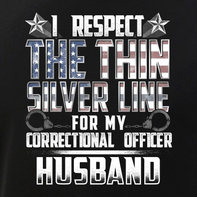 Husband Thin Silver Line Correctional Officer