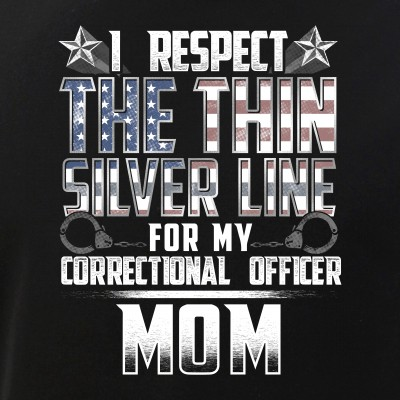 Mom Thin Silver Line Correctional Officer