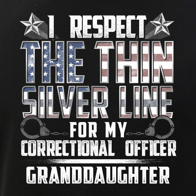 Granddaughter Thin Silver Line Correctional Officer