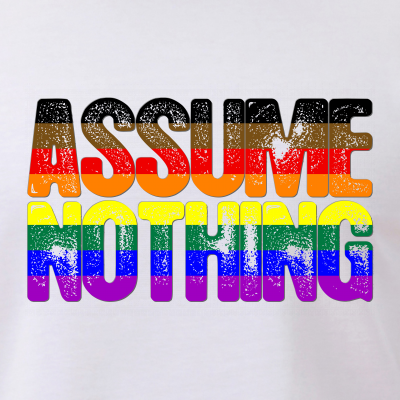 Assume Nothing Philly LGBTQ Gay Pride Flag