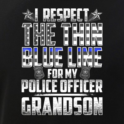 Grandson Police Officer Thin Blue Line