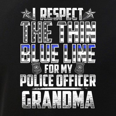 Grandma Police Officer Thin Blue Line