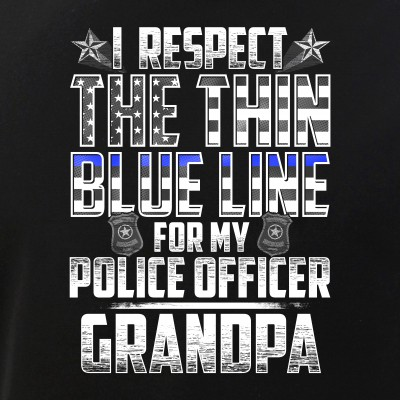 Grandpa Police Officer Thin Blue Line