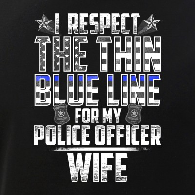 Wife Police Officer Thin Blue Line