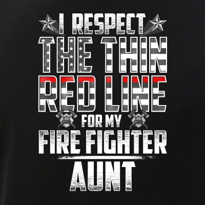 Aunt Fire Fighter Thin Red Line