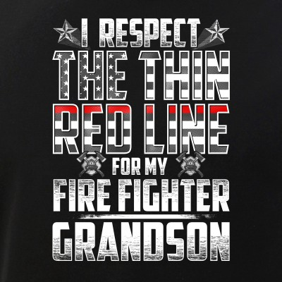 Grandson Fire Fighter Thin Red Line