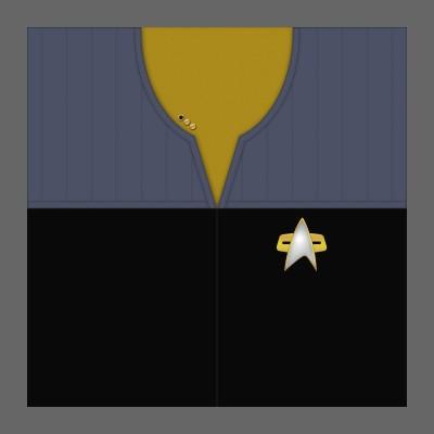 DS9 Starfleet Uniform: Operations - Lt. Commander