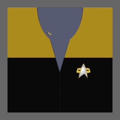 VOY Starfleet Uniform: Operations - Lt. Commander