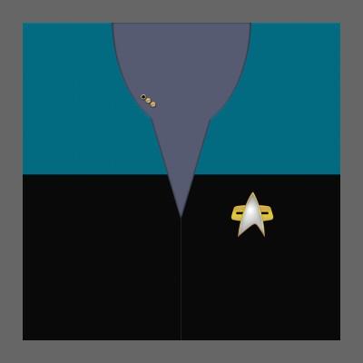 VOY Starfleet Uniform: Science/Medical - Lt. Commander