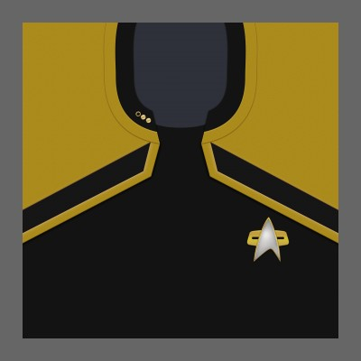 PIC 2380s Starfleet Uniform: Operations - Lt. Commander