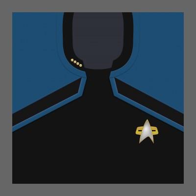 PIC 2380s Starfleet Uniform: Science/Medical - Captain