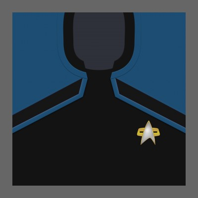 PIC 2380s Starfleet Uniform: Science/Medical - Crew