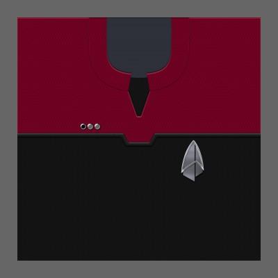 PIC 2390s Starfleet Uniform: Command - Lt. Commander