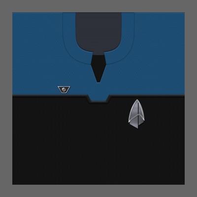 PIC 2390s Starfleet Uniform: Science/Medical - Commodore