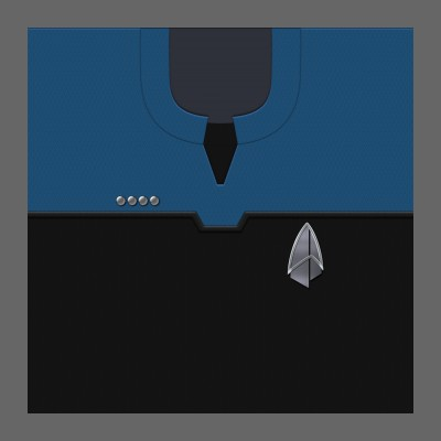PIC 2390s Starfleet Uniform: Science/Medical - Captain