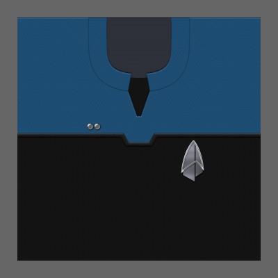 PIC 2390s Starfleet Uniform: Science/Medical - Lieutenant