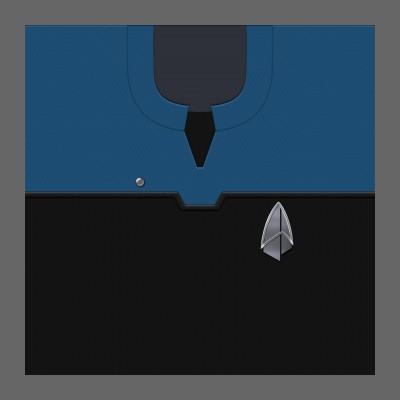 PIC 2390s Starfleet Uniform: Science/Medical - Ensign