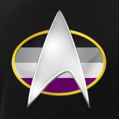 Asexual Pride Flag TNG Combadge