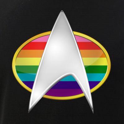 Original Gay Pride Flag TNG Combadge