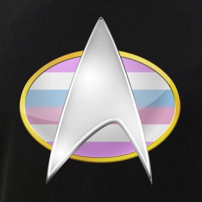Bigender Pride Flag TNG Combadge