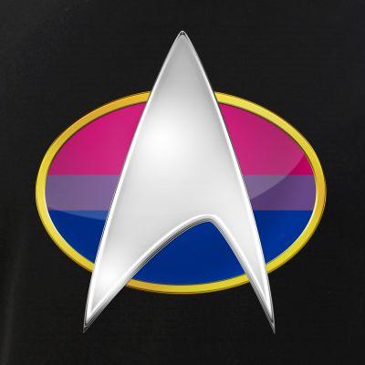 Bisexual Pride Flag TNG Combadge