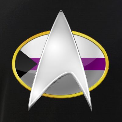 Demisexual Pride Flag TNG Combadge