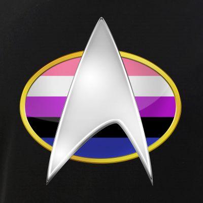 Genderfluid Pride Flag TNG Combadge