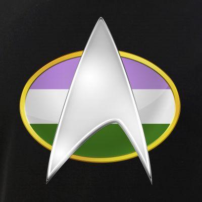 Genderqueer Pride Flag TNG Combadge