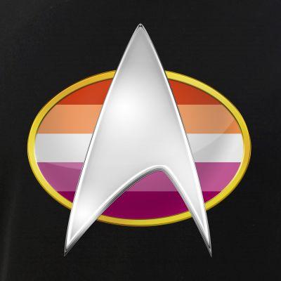 Lesbian Pride Flag TNG Combadge