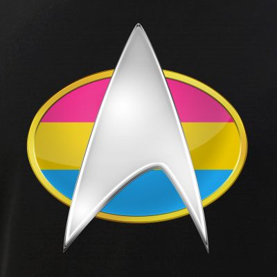 Pansexual Pride Flag TNG Combadge