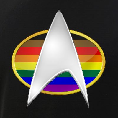 Philly Inclusive LGBTQ Pride Flag TNG Combadge