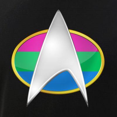 Polysexual Pride Flag TNG Combadge