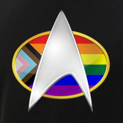 Progress LGBTQ Pride Flag TNG Combadge