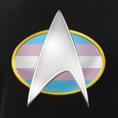 Transgender Pride Flag TNG Combadge