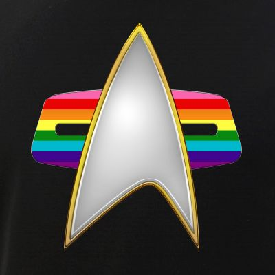 Original Gay Pride Flag VOY Combadge