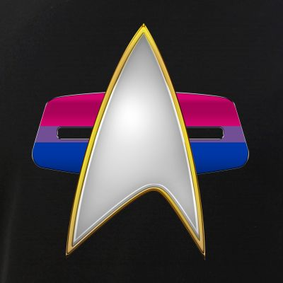 Bisexual Pride Flag VOY Combadge