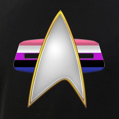 Genderfluid Pride Flag VOY Combadge