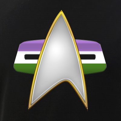 Genderqueer Pride Flag VOY Combadge