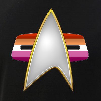 Lesbian Pride Flag VOY Combadge